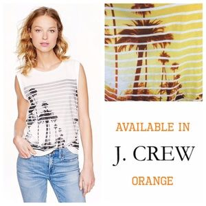 J. Crew Sunset In California Stripe Print Tank